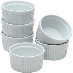 BIA Cordon Bleu 90009S12 - Set of 12-3.25'' 6 Ounce Porcelain Ramekins, White by BIA Cordon Bleu
