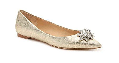 Badgley Mischka Karina Women's Dress Shoes, Flat (Size 8) (Platinum)