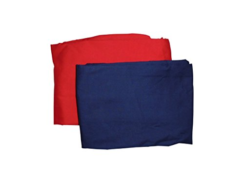 Baby Doll Bedding Solid Two-Tone Mini Crib/Port-a-Crib Sheet Set, Navy/Red