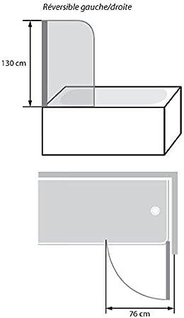 déstock Kinedo – Mampara para bañera 76 cm Samoa – PB 500 BBB: Amazon.es: Bricolaje y herramientas