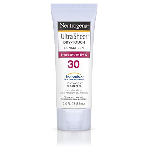- Neutrogena Ultra Sheer Dry-Touch Water Resistant and Non-Greasy Sunscreen Lotion with Broad Spectrum SPF 30, 3 fl. oz, Pack of 2