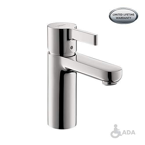 hansgrohe Metris S  Modern 1-Handle  6-inch Tall Bathroom Sink Faucet in Chrome, 31060001