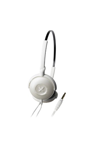 (Audio Technica ATH-FW33 FashionFidelity BIJOUÉ On-ear Headphones, White)