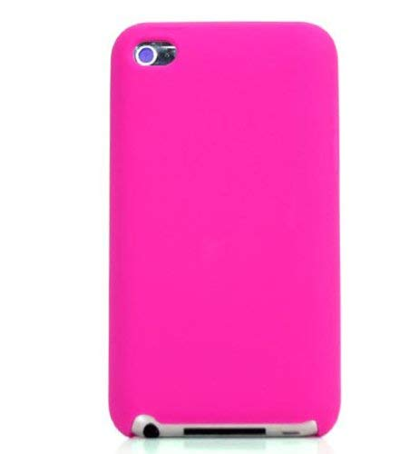 EnvyDeal Magenta Silicone Skin Case for Apple iTouch 4 ()