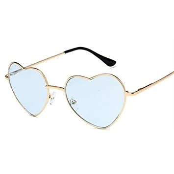 GGSSYY tipo de corazón gafas de sol mujeres rojo amarillo ...