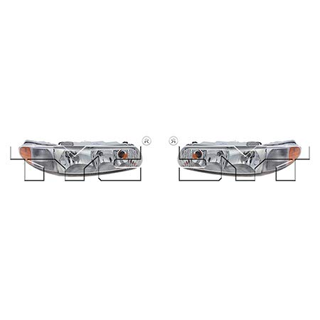 Fits 1997-2005 Buick Century Headlight Driver and Passenger Side NSF Certified Bulbs Included GM2502182 GM2503182 - Replaces 19244639, 19244638 ;w/corner lamps - replaces w/o corner -