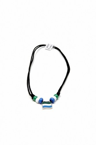 Sierra Leone Country Flag Small Metal Necklace Choker   New