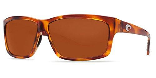Costa Del Mar Cut Sunglasses, Honey Tortoise, Copper 580P ()