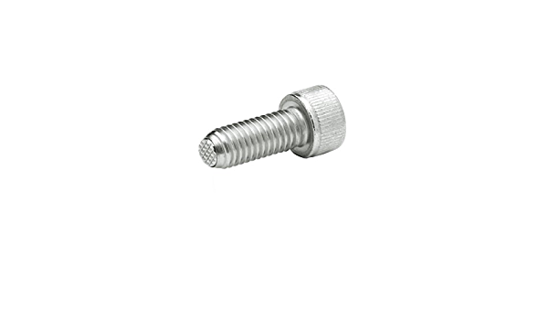 J.W M8 x 50 mm Thread Length Winco 8N50P48//VRN GN606-NI Socket Head Cap Screw with Serrated Flat Ball Safety Twist Feature Stainless Steel Ganter