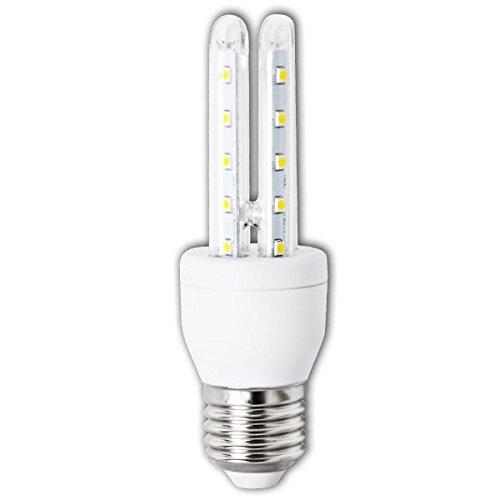 Aigostar Bombilla LED T3 2U de 6W, rosca grande y luz fría E27: Amazon.es: Iluminación