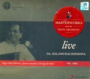 Dr. Balamuralikrishna - Live - Masterworks from the NCPA Archives, Oct 1984 (2-CD Set / Carnatic)