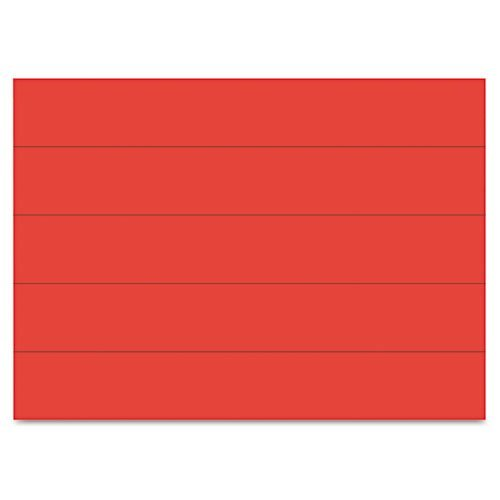 MasterVision - Dry Erase Magnetic Tape Strips, Red, 6 x 7/8, 25/Pack FM2504 (DMi PK by MasterVision