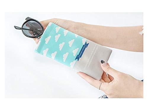 Pour Hnbgy Cute Soleil Cartoon Difficile Pochette Bags De bleu Sunglasses Lunettes Rangement xrax5qf8w