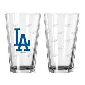 Los Angeles Dodgers Satin Etch Pint Glass ()