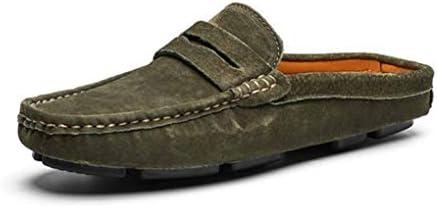 ローファー メンズ かかとなし スリッパ スウェード スエード 靴 春夏 軽量 カジュアル フォーマル ドライビングシューズ スリッポン 通気 サボサンダル シンプル 柔らかい 靴 滑り止め 室内 社内サンダル