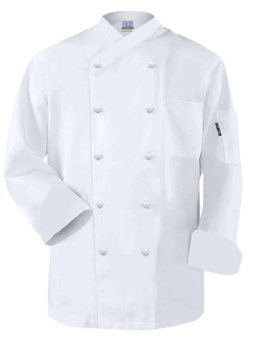 Newchef Fashion Frenchy White Egyptian Cotton Chef Coat M White by Newchef Fashion