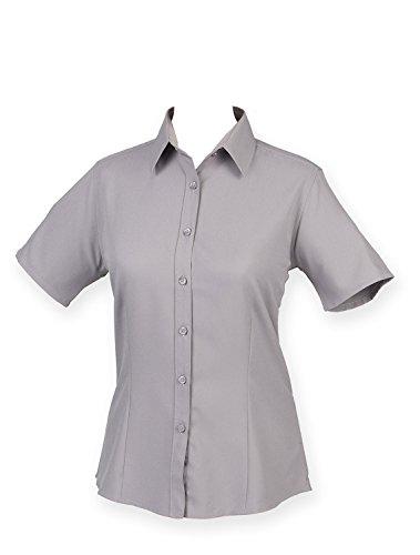 Henbury antibactrienne manches Mche femme Light la shirt courtes T Blue de TrTgqw