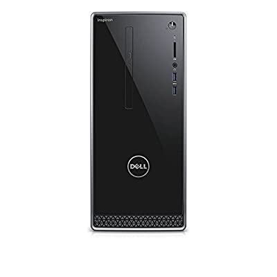 Dell Inspiron i3668 Desktop (7th Generation Intel Core i3-i5-i7 Processor, 8GB-16GB-32GB DDR4 Memory, 256GB SSD + 2TB SATA Hard Drive, Windows 10 Pro) by Dell Computers