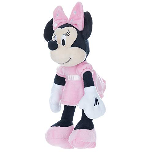 Disney Baby Minnie Mouse Stuffed Animal Plush with Jingle & Crinkle Sounds, 12 Inches