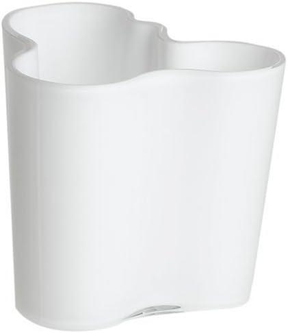 Iittala Aalto 3-3 4-Inch White Glass Vase