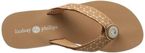 Lindsay Phillips Women's Taylor Wedge Sandal Tan ZMOJ4R0w