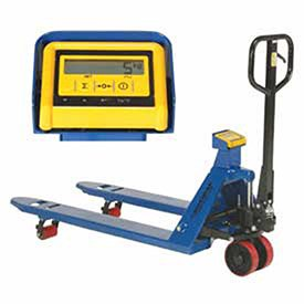 Pallet Jack Scale Truck with Weight Indicator, 27 x 48, 4400 Lb. Capacity by Global Industrial