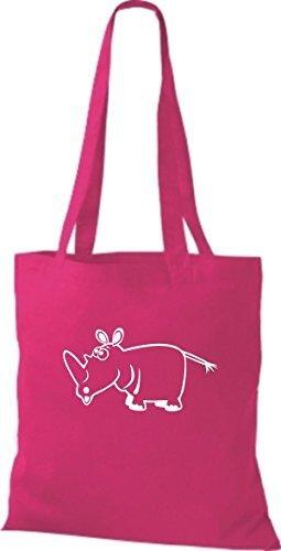 Fucsia Rinoceronte De Animales Bolsa Shirtstown Tela 7qpYTvXx