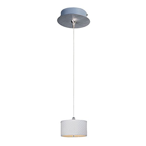 ET2 E95490-100SN Elements 1-Light RapidJack Pendant and Canopy Mini Pendant, Satin Nickel Finish, Glass, 12V GY6.35 T4 Xenon Bulb, 40W Max., Dry Safety Rated, Standard Dimmable, Glass Shade Material, 10400 Rated Lumens ()