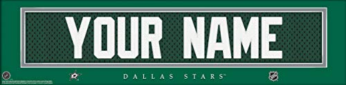 (Dallas Stars NHL Jersey Nameplate Wall Print, Personalized Gift, Boy's Room Decor 6x22 Unframed Poster)