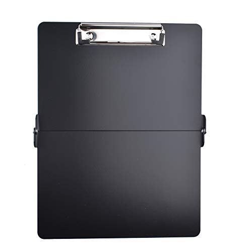 Foldover Clipboard Full Size Clipboard Lightweight Aluminum Construction(Black)