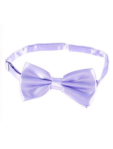 Party Tuxedo Decor Double Layers Polyester Bowtie (Lavender Tuxedo)