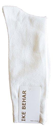 Ike Behar Men's Designer Glitter Dress Socks, White from Ike Behar