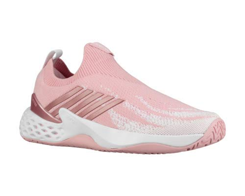 K-Swiss Women`s Aero Knit Tennis Shoes Coral Blush and White (6.5)