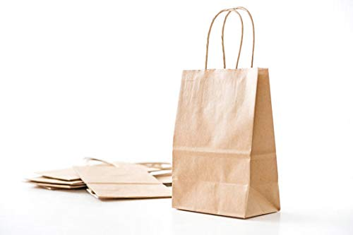 Flexicore Packaging 10''x5''x13'' - 50 Pcs Brown Kraft Paper Bags. 95% POST CONSUMER MATERIALS & FSC CERTIFIED by Duro (Image #2)