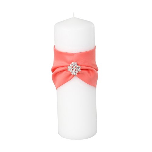 Coral Pillar Candle - Ivy Lane Design Garbo Collection Unity Pillar Candle for Weddings, Coral