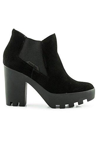 Da Sandy Jeans Black Tacco Donna Calvin Klein Scarpe Suede Con qtA60