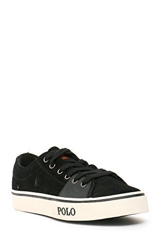 Ralph Lauren Herren MCBI251032O Schwarz Wildleder Sneakers