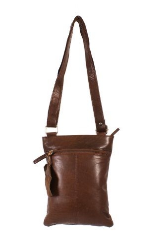 Oxbridge Satchel's, Borsa a secchiello donna marrone Brown