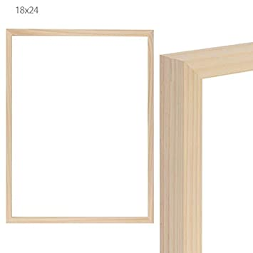 Amazoncom Ambiance Unfinished Wood Gallery Frame 18x24 In
