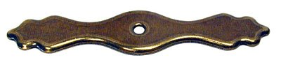 "Amerock Brass And Sterling Traditions 4 5/16"" Knob Backplate Burnished Brass"