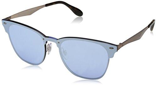 Ray-Ban Kids' Steel Unisex Non-Polarized Iridium Square Sunglasses, Brusched Copper, 47 - Polarized Blaze Clubmaster
