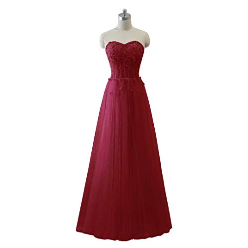 Formal Frauen Long Ballkleider Abendkleid Schatz Tulle Love King's Maxi 1 Perlen wAqHxgX