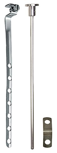 PF WaterWorks Universal Lavatory Pop-Up Drain Lift Rod Assembly - Pull Rod, Linkage, and Spring Clip ;Brushed Nickel; PF0906-BN