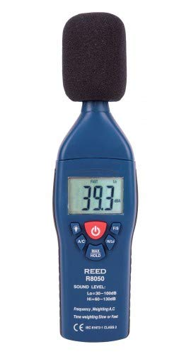 REED Instruments R8080 Sound Level Meter, Datalogger with Bargraph, 30 to 130 dB and NIST Calibration Certificate ()