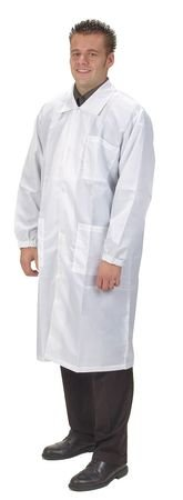 Collared Lab Coat, Male, 2XL, White