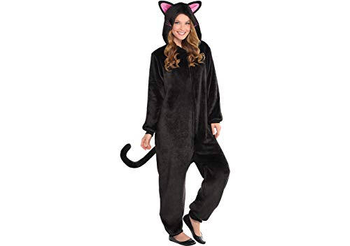 Black Cat Zipster Costume - Adult Small/Medium (Up to 5'11