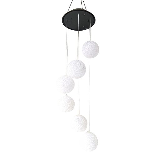 AVEKI Solar Wind Chimes Outdoor, Changing Color Solar Power Ball Wind Chime Mobile Outdoor Decorative Light for Patio Yard Garden Home Pathway (Balls) by AVEKI
