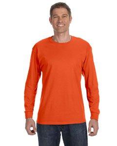 Jerzees Men's Heavyweight Blend 50/50 Long Sleeve T-Shirt (Burnt Orange, XX-Large)