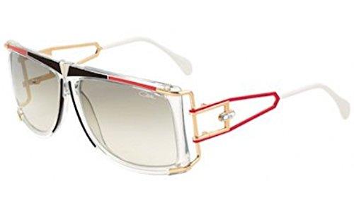 Cazal Legends 866 646SG White/Red/Black Square Full Rim Sunglasses - Cazal Vintage Sunglasses