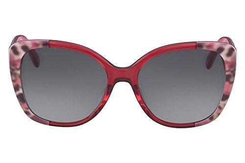 Óculos De Sol Nine West Nw607S 617/56 Vermelho Leopardo